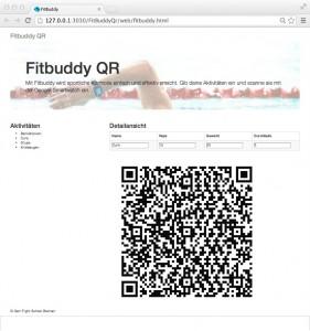 Anwendung: Fitbuddy-QR