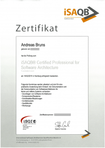 Zertifikat: iSAQB ® Certified Professional for Software Architecture – Foundation Level (CPSA-L)