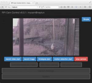 Raspberry Pi - Kamera: RPi Cam Control
