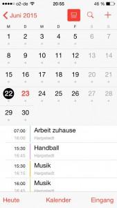 OwnCloud: angebundene Kalendar-App des IPhones