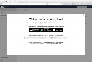 OwnCloud: Startbildschirm