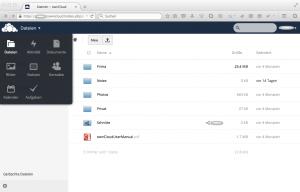 OwnCloud: Weboberfläche