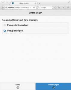 jQuery Mobile: Einstellungen