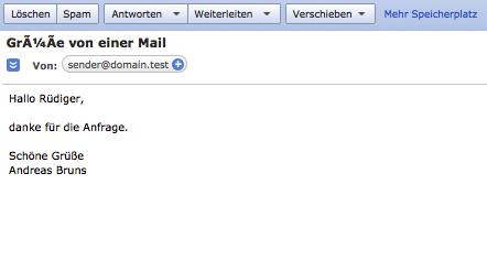 Mail: fehlerhaftes Encoding