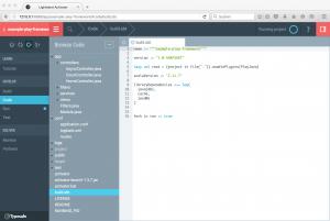 Play-Framework: Activator UI