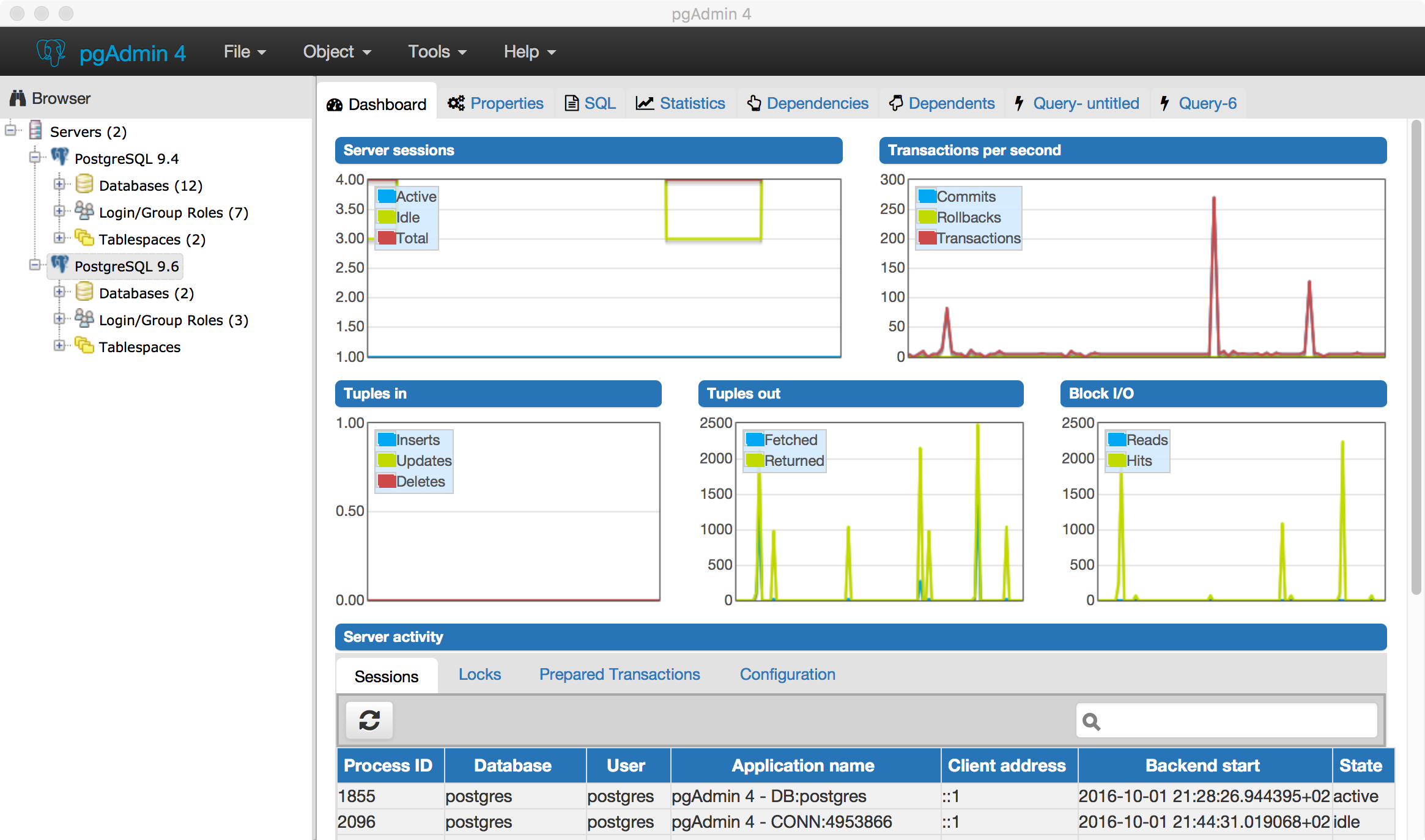 Datenbank-Update zu PostgreSQL 9.6 + pgAdmin 4 |