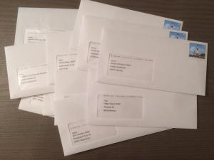 Briefe an EU-Parlamentarier wegen Urheberrechtsrefor-