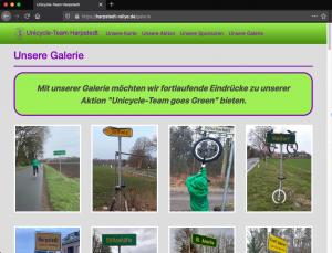 Unicycle-Team goes Green: Galerie (statische Seite)