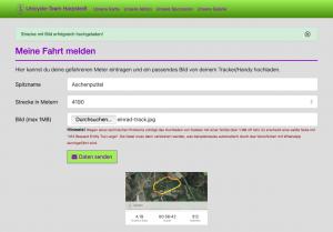 Unicycle-Team goes Green: Upload von Tracks